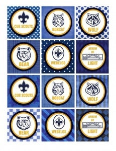 cub scout cupcake toppers
