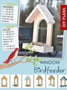 wood bird feeder