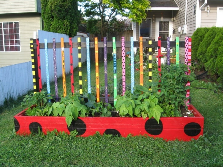 Colorful Raised Garden Bed | Ultimate Scouts