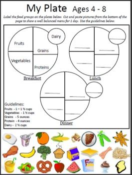 Printables My Plate Worksheets 5 worksheets my plate worksheet