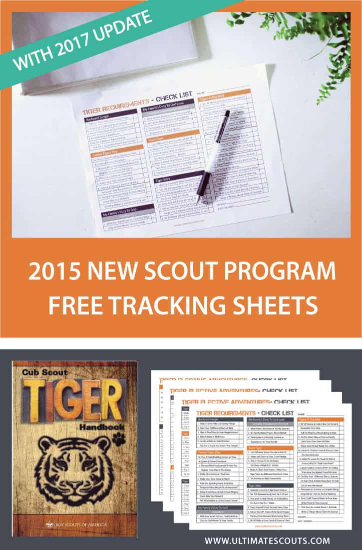 Free Tiger Cub Scout Tracking Printables With 2017 Update
