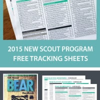 Bear Cub Scout Tracking Sheet With 2017 Updates