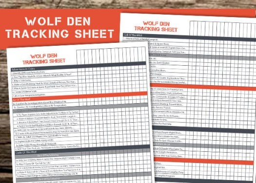 free printable to help den leaders keep track of their scouts requirements and electives