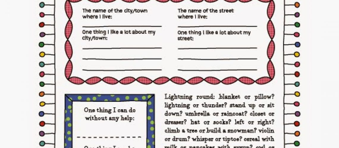 picture regarding Printable Journal Pages called Printable Magazine Internet pages for Small children Greatest Scouts