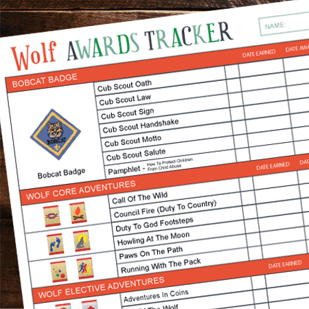 picture regarding Cub Scout Oath Printable called Cub Scout Awards Tracker - (With Free of charge Printables) Best